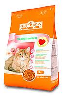 Сухой корм Клуб 4 Лапы для взрослых кошек мясные крокеты с эффектом выведения шерсти, 3кг