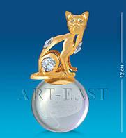 "Фигурка на шаре ""Кошка"" (Юнион) AR-3746/ 4"