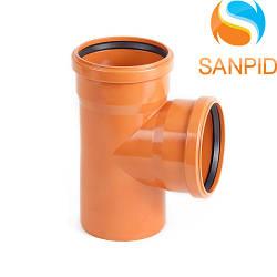 Трійник для зовнішньої каналізації Wavin 160х160/90°