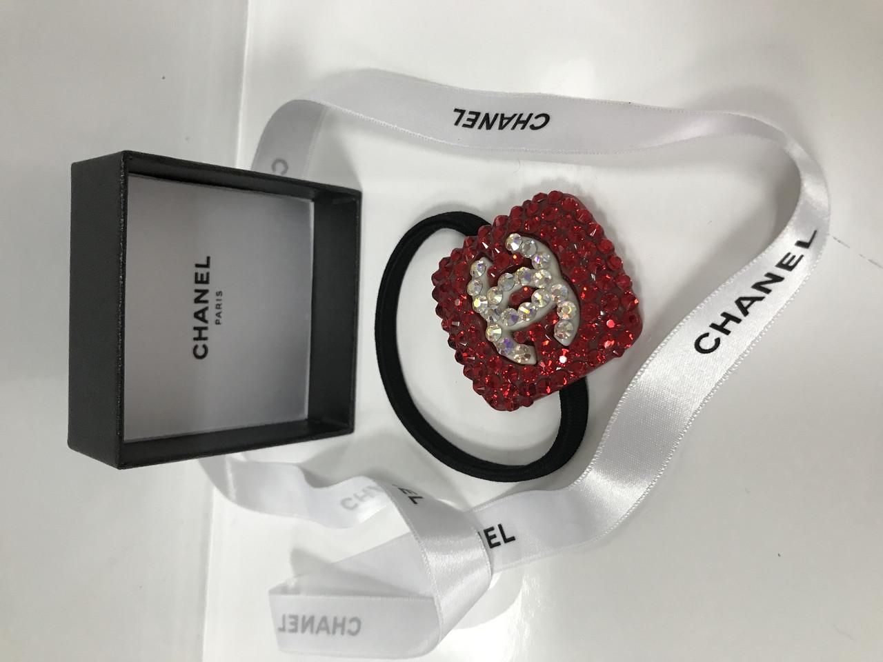"""Резинка Chanel для волос черная с камнями  - Интернет-магазин """"Perspective"""" в Запорожье"""