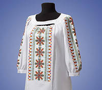 Женская вышитая блуза на льне БП