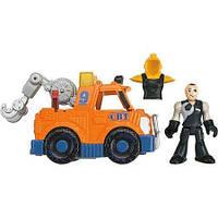 Игровой набор для мальчика Эвакуатор,издает звуки мотора Ficher Price  Imaginext City Tow Truck X7619