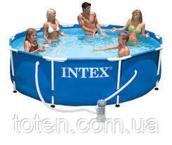 Каркасний басейн 305х76см розм. Intex 28202 (аналог 28702). Об'єм басейну: 4485 літрів