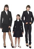 """Пиджак школьный для девочки м-515  рост 116-170 черный и синий зеленый и бордовый тм """"Попелюшка"""", фото 1"""