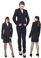 Пиджак школьный для девочки м-515  рост 116-170 черный, синий, бордовый, зеленый, фото 1