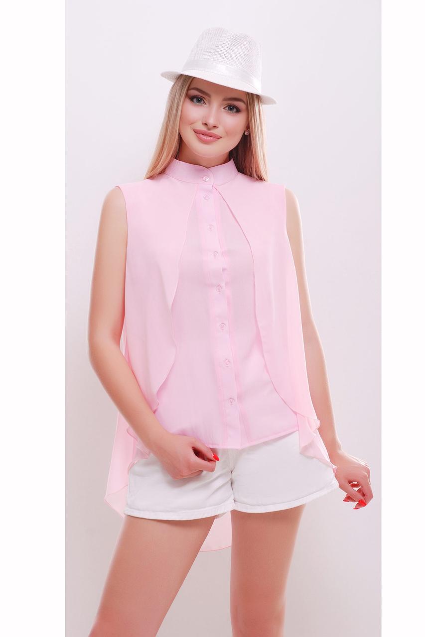 2d8a890e11f Розовая блузка без рукавов - СТИЛЬНАЯ ДЕВУШКА интернет магазин модной  женской одежды в Киеве