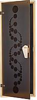 """Двери для бани и сауны (модель """"Вальс"""") 678х1880, 8мм стекло"""