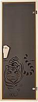 """Двери для бани и сауны (модель """"Тигр"""") 678х1880, 8мм стекло"""