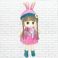 Детская игрушка,кукла Зайка,розовая