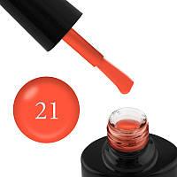 Гель-лак FOCUS PREMIUM 021 неоновый оранжевый, эмаль, плотный, с флуоресцентным эффектом, 8 мл