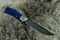 """Нож """"Синий змей"""", дамасск, белый металл (наличие уточняйте)"""