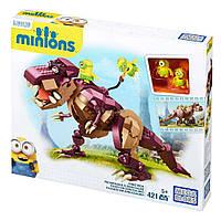 Конструктор Мега Блокс Minions Верхом на динозавре, Mega Bloks (421 дет.) мегаблокс миньонCPC51