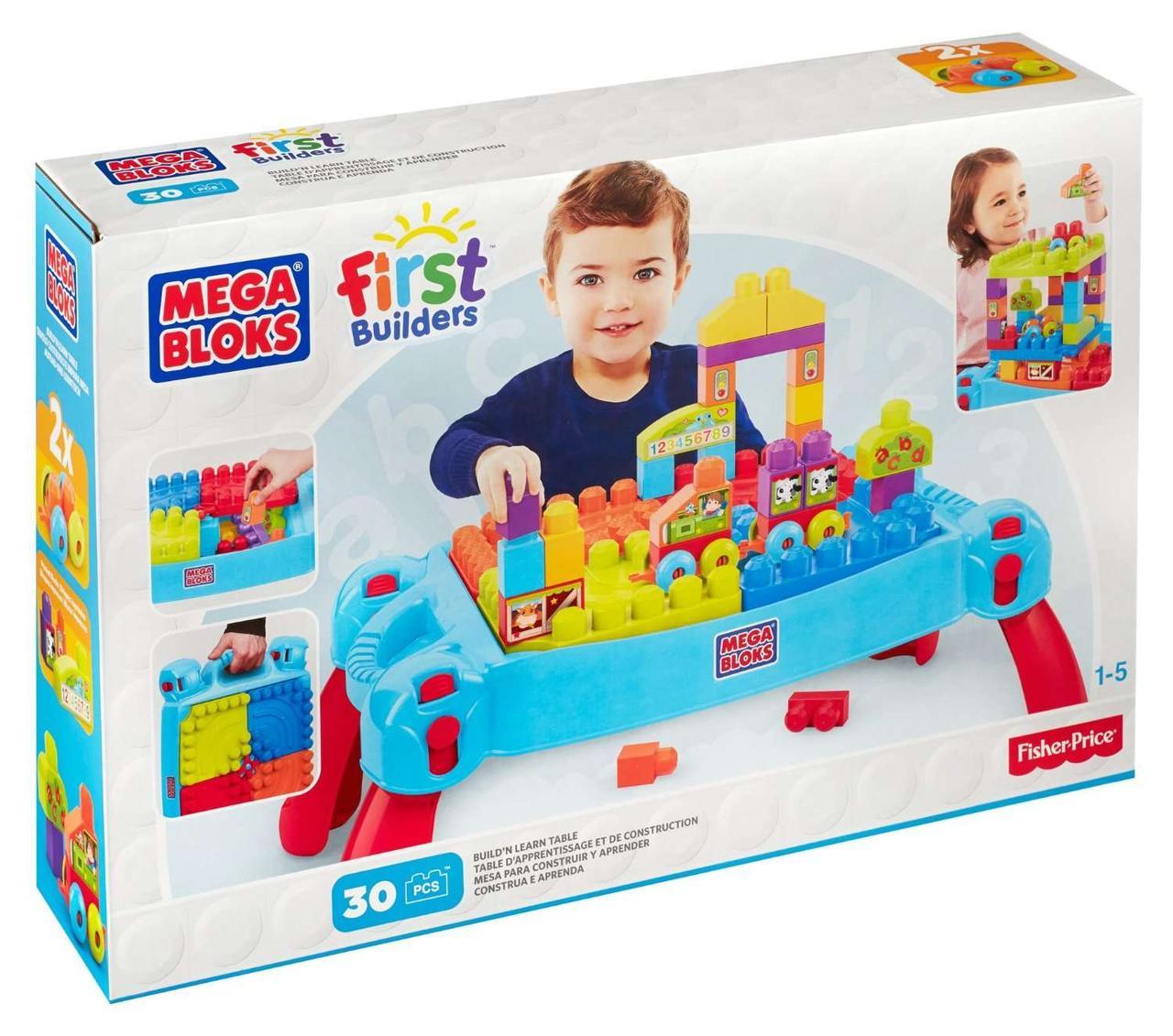 """Конструктор Мега Блокс """"Развивающий столик"""" Mega Bloks (30 деталей), мегаблокс, megabloks CNM42 - """"Toyexpress"""" в Днепре"""