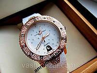 Женские кварцевые часы Ulysse Nardin (Улисс Нардан) БЕЛЫЕ часы под Rolex женские (Ремешок-регулируемый) купить
