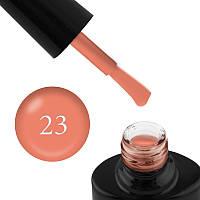 Гель-лак FOCUS PREMIUM 023 оранжево-лососевый, эмаль, плотный, с флуоресцентным эффектом, 8 мл