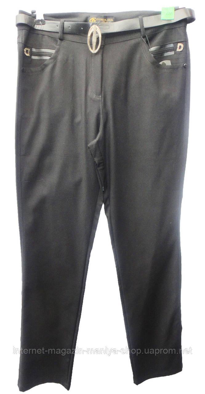 Женские штаны 22697 с ремнем батал (деми)