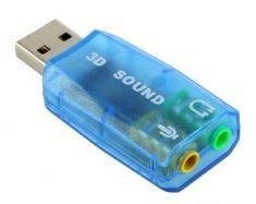 Зовнішня USB звукова карта, колір синій