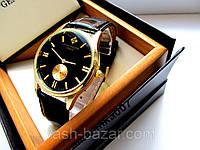 Стильные Мужские кварцевые часы PATEK PHILIPPE под Rolex на черном ремешке купить, фото 1