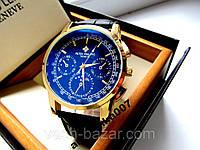 Стильные мужские кварцевые часы PATEK PHILIPPE под Omega с тремя циферблатами купить, фото 1