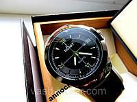 Стильные мужские Кварцевые часы Tissot с черным ремешком купить, фото 1