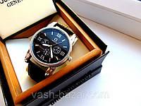 Стильные Мужские кварцевые часы Omega (реплика) с тремя циферблатами купить, фото 1