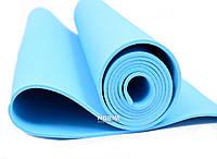Мат для йоги нескользящий EVA (0380) Голубой
