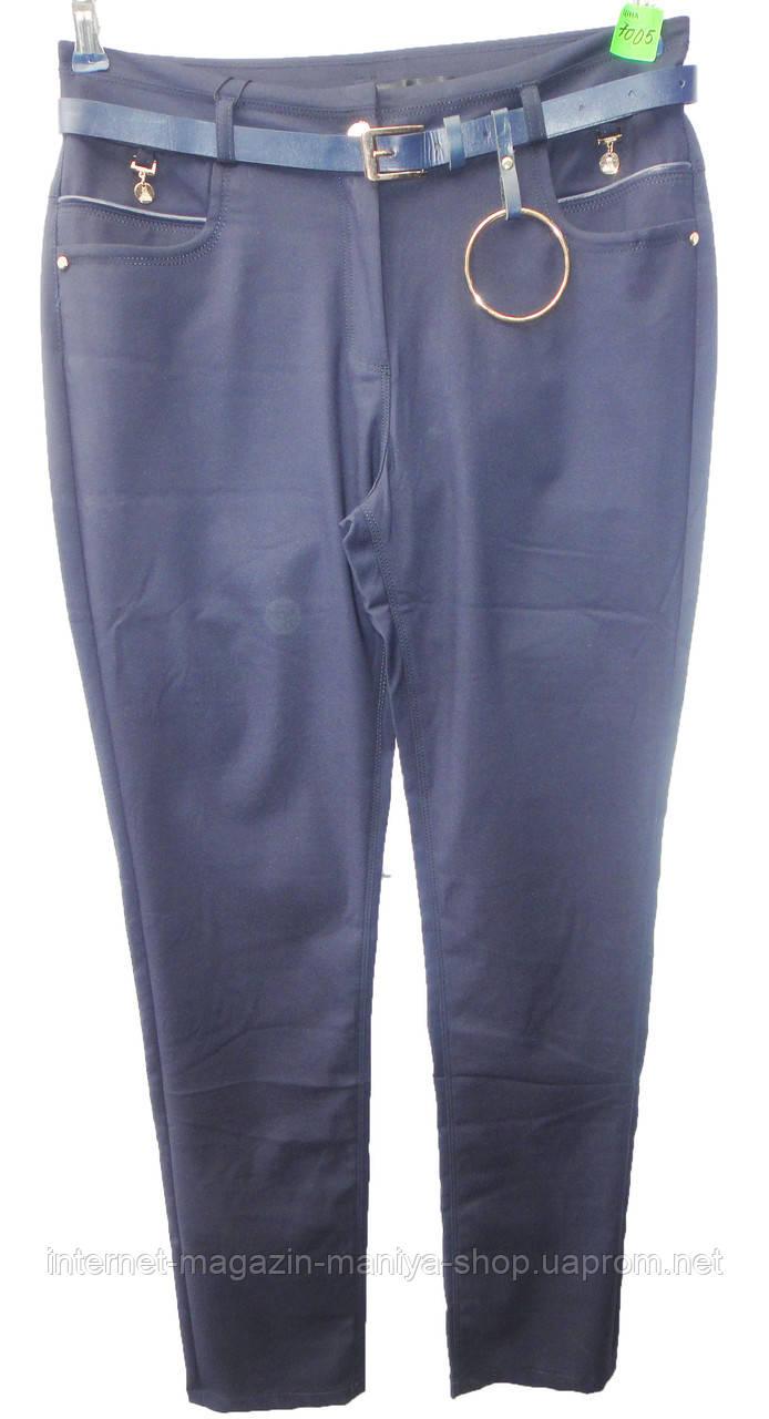 Женские штаны 7005 с ремнем полу батал (деми)