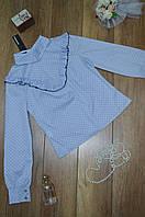 Рубашка молодежная с рюшой и пуговицами на спине Elisabetta Franchi