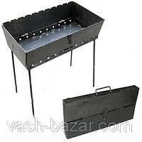 Раскладной мангал чемодан на 6 шампуров, фото 1