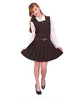 Сарафан школьный для девочки М-665 рост 110-164 черный, синий, зеленый,бордовый, фото 1