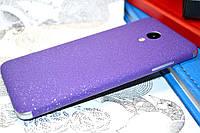 """Виниловая наклейка """"Фиолетовая алмазная крошка"""" Meizu M3S (задняя часть) 0,11 mm"""