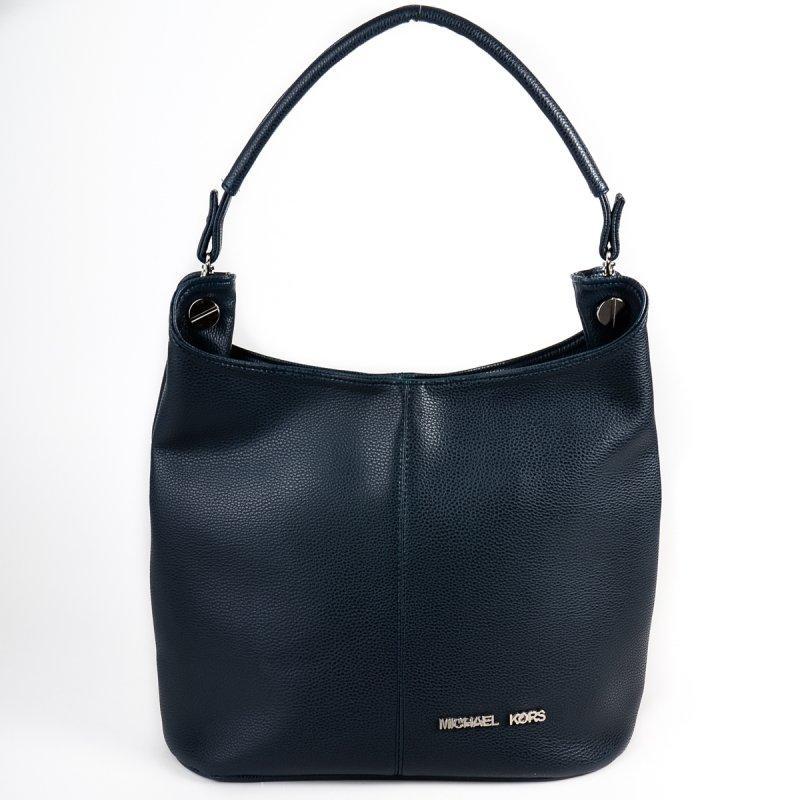 f81520df173a Синяя сумка-мешок М129-39 мягкая женская вместительного размера с одной  ручкой на плечо