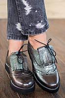 Женские кожаные туфли оксфорды В20849, фото 1
