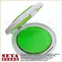 Цветная пудра для волос зеленая