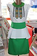 """Плаття вишите """"Літній бриз"""" зелене"""