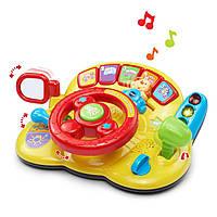Музыкальный  детский руль для малышей, VTech Turn and Learn Driver VTech Витеч 80-166600