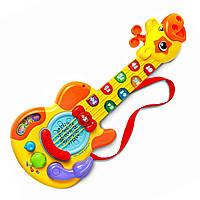 Детские музыкальные инструменты музыкальная детская гитара Жираф гитара для детей, VTech Витеч 80-179000