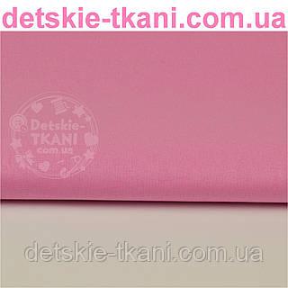 Однотонная польская бязь тёмно-розовая (№29а).