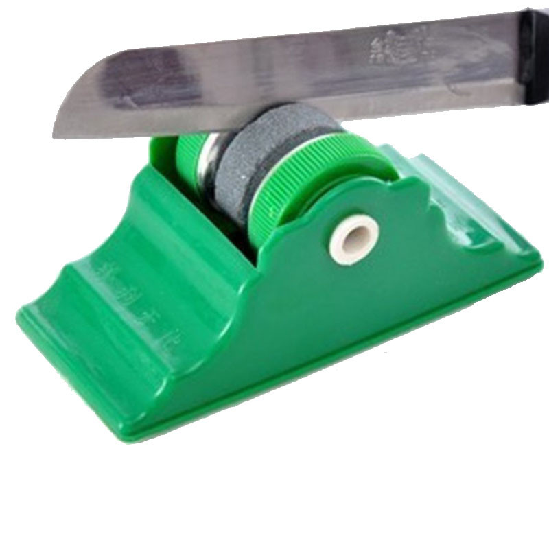 Точилка-камень для ножей крутящаяся на подставке с липучкой