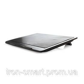 Подставка для ноутбука до 15' Gembird NBS-1F15-01, Black, 1x140 mm fan, размер - 350 х 250 х 30 мм, 350 г