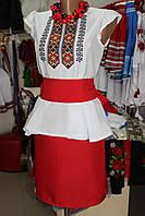"""Плаття вишите """"Літній бриз"""" червоне"""