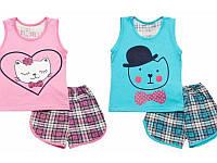 Комплект для девочки ( майка, шорты, покраска ), кулир м.353-023, р.60, DPK034359
