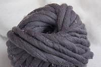 Толстая пряжа ручного прядения Цвет сталь Пряжа для толстого вязания