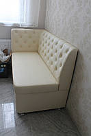 Мягкая мебель для кухни под заказ (Молочный цвет), фото 1