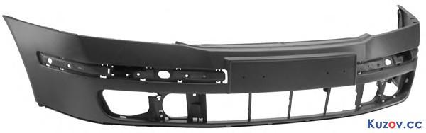 Передний бампер Skoda Octavia A5 05-09, без отв. п/троник и омывателя