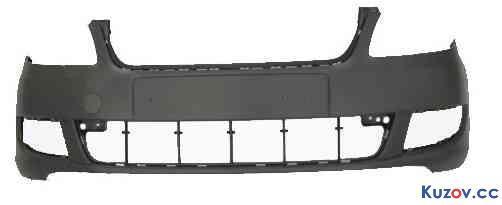 Передний бампер Skoda Fabia II (10-14) с отв. омывателя фар (FPS)