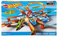 Автотрек Авария Крест накрест, трек перекрестное столкновение Hot Wheels, Хот Вилс, hotwheels, хотвилс DTN42