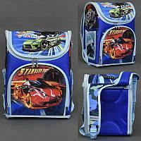 Рюкзак школьный каркасный для мальчика Super Car спинка ортопедическая