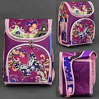 Уценка. Рюкзак школьный каркасный ортопедический для девочки Бабочка