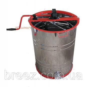 Медогонка 2-х рамочная неповоротная нержавеющая РКС(детали ротора, кассета сварная нерж.), фото 2